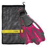 U.S. Divers FA278O2201M Proflex FX Snorkeling Set Size Medium Mens & Womens Diving Fins with Mesh Carry Bag, Raspberry Pink