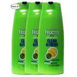 Garnier Fructis Clean & Fresh Shampoo 1.18L (Pack of 3)