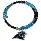 NFL Siskiyou Sports Womens Carolina Panthers Crystal Memory Wire Bracelet One Size Team Color