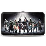 Buckle-Down Hinge Wallet - 8-Assassins Group Pose + ASSASSIN'S CREED/Crest Black/Gray/White/Red