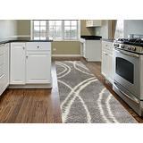 "Cozy Contemporary Stripe L.Grey-White 2' X 7'2"" Indoor Shag Area Rug Runner"