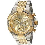 Invicta Men's Bolt 51mm Steel and Gold Tone Stainless Steel Chronograph Quartz Watch, Two Tone (Model: 25864)