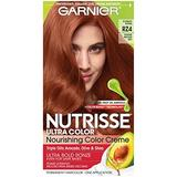 Garnier Nutrisse Ultra Color Nourishing Permanent Hair Color Cream, RZ4 Intense Bronze Red Scarlet Ronze (1 Kit) Red Hair Dye (Packaging May Vary), Pack of 1
