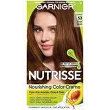 Nutrisse Nourishing Color Creme #53 Medium Golden Brown Garnier Hair Color Unisex 1 Application (Pack of 5)