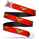"""Buckle-Down Seatbelt Belt - Wonder Woman Logo Red - 1.0"""" Wide - 20-36 Inches in Length"""