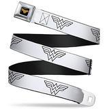 "Buckle-Down Seatbelt Belt - Wonder Woman Logo Metallic Gold/Black - 1.0"" Wide - 20-36 Inches in Length"