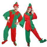 EraSpooky Christmas Elf Adult Costume Unisex Whole Set