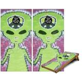 Cornhole Bag Toss Game Board Vinyl Wrap Skin Kit - Phat Dyes - Alien - 100 (fits 24x48 Game Boards - Gameboards NOT Included)