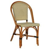 Beaufurn French Bistro Dining Chair Wicker/Rattan in Brown, Size 36.0 H x 17.0 W x 20.0 D in | Wayfair FB220 RTS-R-IV