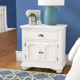 Beachcrest Home™ Tarquin 1 - Drawer Nightstand Wood in White, Size 30.0 H x 28.0 W x 18.0 D in   Wayfair BCHH9163 41969865