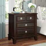 """Darby Home Co Daleville 4 Drawer Nightstand, Wood in Brown, Size 29""""H X 28""""W X 17""""D 