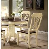 Infini Furnishings Cross Back Side Dining Chair Wood in Brown, Size 41.0 H x 20.0 W x 23.0 D in | Wayfair INA70333JB