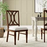 Hooker Furniture Palisade Fabric Cross Back Side Chair in Dark WalnutWood/Upholstered in Brown, Size 40.75 H x 19.5 W x 23.25 D in | Wayfair