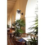 Longshore Tides Hadlee Oscillating Wall Mounted Fan in Brown, Size 16.0 W in | Wayfair LNTS5030 45328224