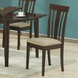 Monarch Specialties Inc. Upholstered Slat Back Side Chair in Wood/Upholstered/Fabric in Brown, Size 38.0 H x 20.0 W x 18.0 D in | Wayfair I 1898