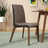 Corrigan Studio® Stahl Side Chair Wood/Upholstered/Fabric in Brown/Gray, Size 35.5 H x 17.75 W x 21.75 D in | Wayfair LGLY4775 34831496