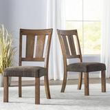 Loon Peak® Etolin Slat Back Side Chair in Light HoneyWood/Upholstered/Fabric in Brown, Size 39.0 H x 20.5 W x 25.0 D in | Wayfair