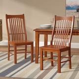 Loon Peak® Corwin Solid Wood Slat Back Side Chair in Wood in Brown, Size 41.5 H x 18.0 W x 23.0 D in | Wayfair LOON3336 27934328