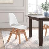 Modern Chairs USA Icon Legenda Side Dining Chair in WhitePlastic/Acrylic in Brown/Gray/White, Size 32.0 H x 19.0 W x 21.0 D in | Wayfair