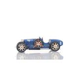 Old Modern Handicrafts Bugatti Type 35 Car ModelMetal in Blue/White, Size 4.0 H x 14.0 W x 5.5 D in   Wayfair AJ038