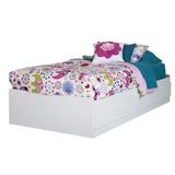 South Shore Logik Twin Mate's & Captains's Bed Wood in Brown/Green/White, Size 40.5 W x 76.5 D in | Wayfair 10055