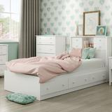 South Shore Little Smileys Twin Mate's & Captain's Bed w/ Drawers Wood in White, Size 40.5 W x 76.5 D in | Wayfair 10479