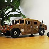 17 Stories Humvee Model Truck Metal in Brown, Size 4.5 H x 13.0 W x 7.5 D in | Wayfair STSS1764 39496116