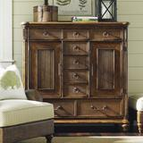 Tommy Bahama Home Bali Hai 9 Drawer Combo Dresser Wood in Brown/Red, Size 54.0 H x 54.0 W x 21.0 D in | Wayfair 01-0593-329