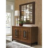 Tommy Bahama Home Island Fusion 6 Drawer Double Dresser w/ Mirror Wood in Brown, Size 36.0 H x 60.0 W x 20.0 D in | Wayfair