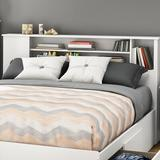 South Shore Fusion Bookcase Headboard Wood in White, Size 40.13 H x 63.5 W x 9.0 D in | Wayfair 9007A1