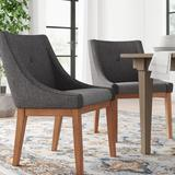 Three Posts™ Irving Place Tufted Linen Side ChairWood/Upholstered/Fabric in Gray, Size 36.0 H x 24.5 W x 27.5 D in   Wayfair TRPT4241 42855235