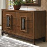 Tommy Bahama Home Island Fusion Tahara 6 Drawer Double Dresser Wood in Brown, Size 36.0 H x 60.0 W x 20.0 D in | Wayfair 01-0556-222