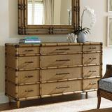 Tommy Bahama Home Twin Palms 12 Drawer Dresser Wood in Brown, Size 40.25 H x 68.0 W x 20.0 D in | Wayfair 01-0558-233