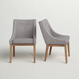 Three Posts™ Irving Place Tufted Linen Side ChairWood/Upholstered/Fabric in Gray, Size 36.0 H x 24.5 W x 27.5 D in   Wayfair TRPT4241 42855236