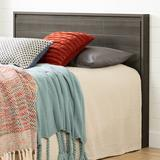 South Shore Gravity Queen Panel Headboard Wood in Gray, Size 43.88 H x 62.25 W x 3.75 D in | Wayfair 9036256