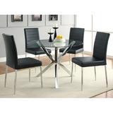 Orren Ellis Abdurrhman Side ChairFaux Leather/Upholstered in Black, Size 38.5 H x 17.0 W x 19.8 D in   Wayfair WLGN6128 34767306