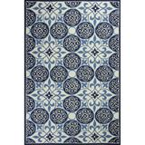 KAS Rugs COL53X83-SRDPTY Colonial 5' x 8' Rectangle Wool Hand Hooked Coastal Area Rug Blue