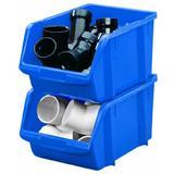 Stack-On BIN-14 Large Parts Storage Organizer Bin, Blue