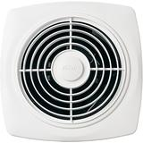 """Broan-NuTone 508, White Square Exhaust, 7.0 Sones, 270 CFM, 10"""" Through Wall Ventilation Fan, Inch 6"""