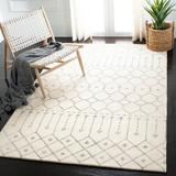 Bungalow Rose Griffiths Geometric Hand-Tufted Wool Ivory/Gray Area Rug Wool in Brown/Gray, Size 96.0 H x 60.0 W x 0.63 D in | Wayfair