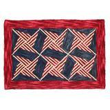 August Grove® Chesa Geometric Handmade Tufted WoolArea RugWool in Red, Size 72.0 H x 48.0 W x 0.37 D in   Wayfair AGTG3958 43107854