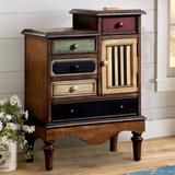 August Grove® Pinheiro Vintage 4 Drawers Accent Chest Wood in Brown, Size 30.25 H x 22.0 W x 11.75 D in   Wayfair AGTG6624 44338083