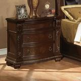 Astoria Grand Wentz 3 - Drawer Solid Wood Bachelor's Chest in Cherry Wood in Brown/Red, Size 32.0 H x 35.0 W x 20.0 D in | Wayfair