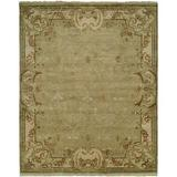 Astoria Grand Marwood Hand Knotted Wool Green/Ivory Area RugWool in White, Size 120.0 H x 30.0 W x 0.5 D in   Wayfair ARGD6745 45196831