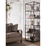 Artistica Home Metal Designs Etagere Bookcase in Brown, Size 79.0 H x 26.0 W x 18.0 D in | Wayfair 01-2056-990-43