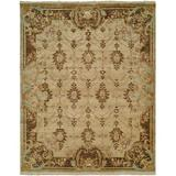 Astoria Grand Marystone Oriental Hand Knotted Wool Ivory/Area RugWool in Brown, Size 144.0 H x 108.0 W x 0.5 D in   Wayfair ARGD6746 45196843