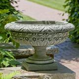 Astoria Grand Longwood 1 Piece Cast Stone Urn Planter Concrete in Blue/Black, Size 17.75 H x 28.0 W x 28.0 D in | Wayfair ARGD5156 43897061