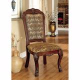 "Astoria Grand Bataan Linen Queen Anne Back Side Chair, Wood/Fabric/Solid Wood in Cherry, Size 46""H X 28""W X 28""D | Wayfair ARGD5882 44337190"