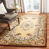 Astoria Grand Bedgood Oriental Handmade Tufted Wool Gold Area Rug Wool in Yellow, Size 108.0 H x 72.0 W x 0.63 D in | Wayfair ASTG8108 37928638