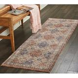 Astoria Grand Westbrook Red/Area Rug Polyester in Blue, Size 90.0 H x 27.0 W x 0.25 D in   Wayfair ATGD8334 41550105